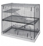 Lazy Bones Double Storey Metal Cage